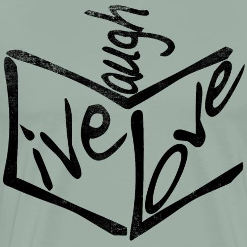 Live Love Laugh Cubed - Men's Premium T-Shirt