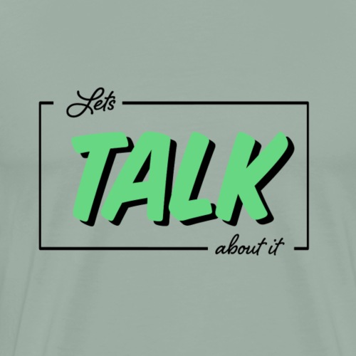 Let's Talk about it logo - Men's Premium T-Shirt