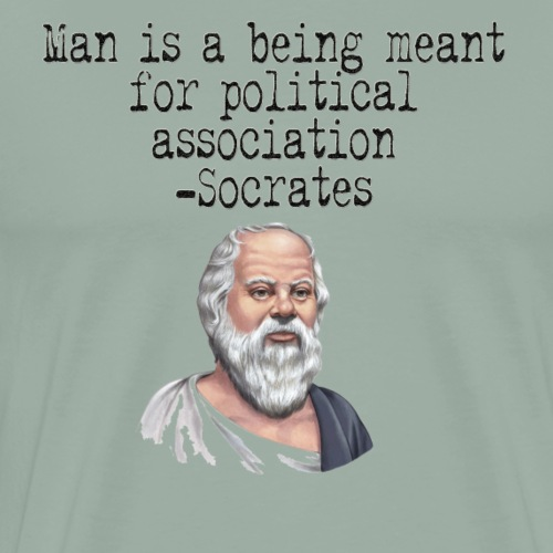 Man is a Being Meant for Political Association - Men's Premium T-Shirt
