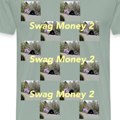 Swag Money 2 Checker Print - Men's Premium T-Shirt