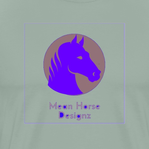Mean Horse Logo - Men's Premium T-Shirt