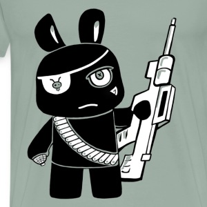 attack bunny transparent - Men's Premium T-Shirt