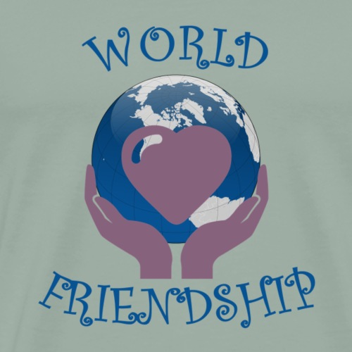 World Friendship and Peace - Men's Premium T-Shirt