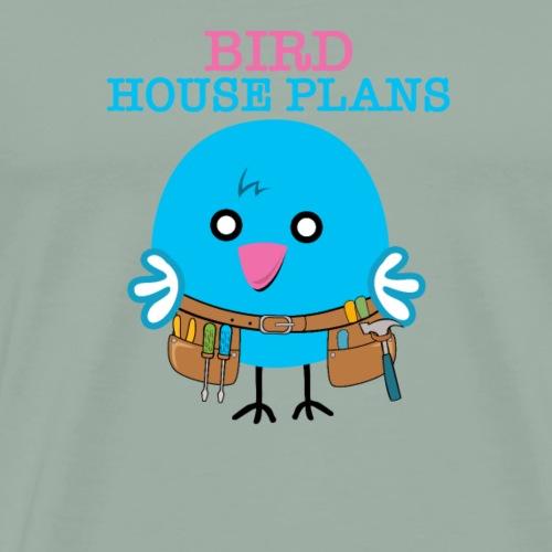 BLUEBIRD HOUSE PLAN SHIRT - Men's Premium T-Shirt