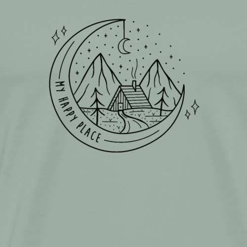 My Happy Place Camping T-Shirt - Men's Premium T-Shirt