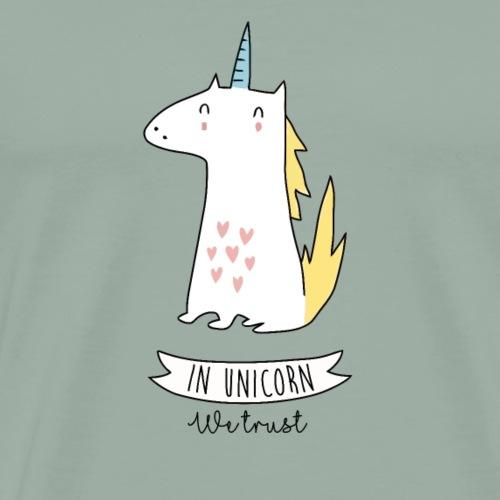 In Unicorn We Trust - Unicat - Men's Premium T-Shirt