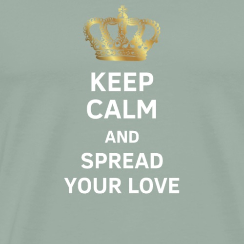 Keep calm and spread your love - gift - Men's Premium T-Shirt