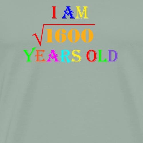 Happy 40th Birthday, Funny Birthday Math Puzzle - Men's Premium T-Shirt