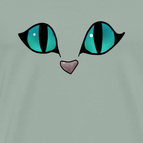 cat eyes, funny cat eyes - Men's Premium T-Shirt