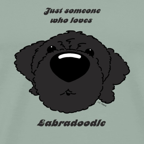 Someone who loves Labradoodle - Men's Premium T-Shirt