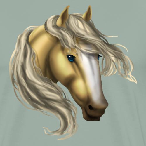 Palomino Blaze Horse - Men's Premium T-Shirt