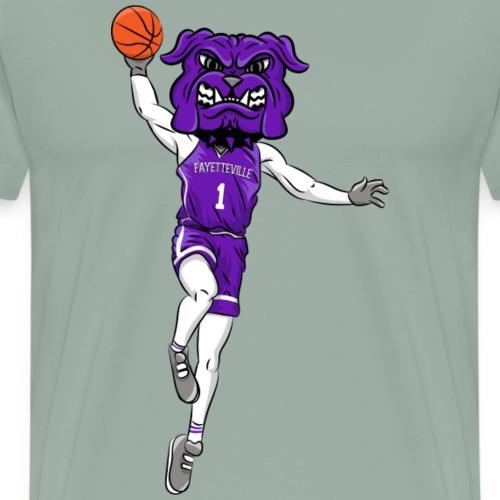 custom bulldog mascot purple basketball - Men's Premium T-Shirt