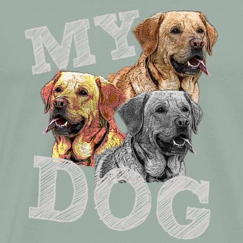 Dog,Dog lover,Dog owner,Rog head,Retriever,Dog - Men's Premium T-Shirt