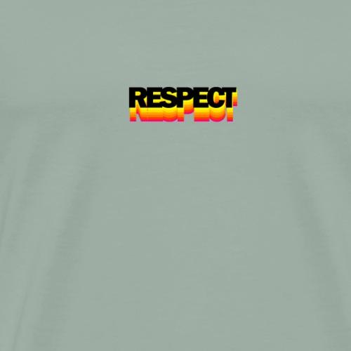 Respect (Rainbow Font) - Men's Premium T-Shirt