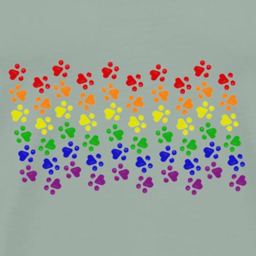 Kitten LGBTQ Pride Flag - Men's Premium T-Shirt