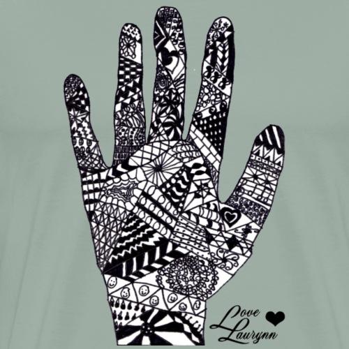 Zen Tangle Hand - Men's Premium T-Shirt