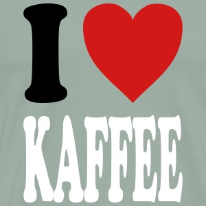 I love KAFFEE (variable colors!) - Men's Premium T-Shirt