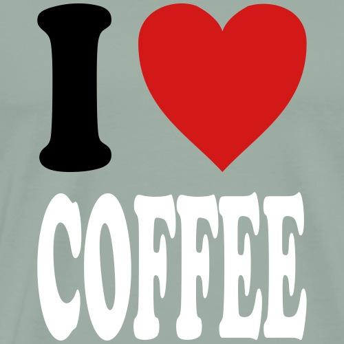 I love COFFEE (variable colors!) - Men's Premium T-Shirt
