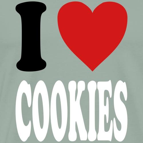 I love COOKIES (variable colors!) - Men's Premium T-Shirt