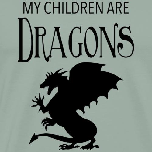 My Children are Dragons - Men's Premium T-Shirt