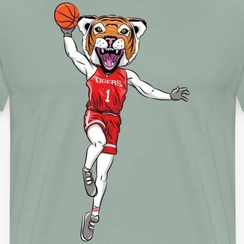 Tiger mascot basketball - Men's Premium T-Shirt