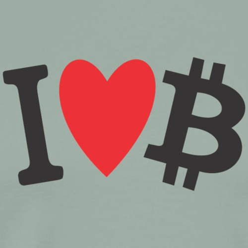 I LOVE BITCOIN - Men's Premium T-Shirt