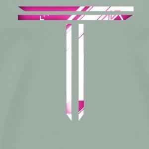 Pink T Logo - Men's Premium T-Shirt
