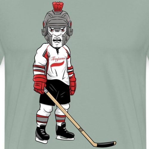 custom trojan mascot hockey - Men's Premium T-Shirt