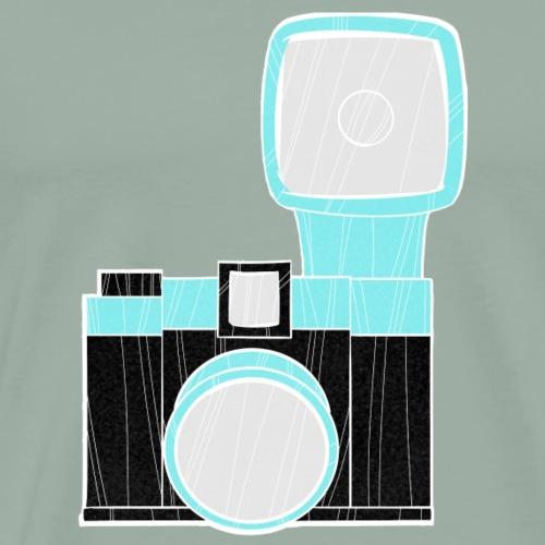 diana camera blue - Men's Premium T-Shirt