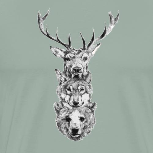 Dear-Wolf-Bear - Men's Premium T-Shirt