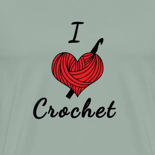 I Heart Crochet - Men's Premium T-Shirt