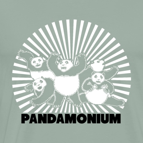 Panda : Pandamonium - Men's Premium T-Shirt