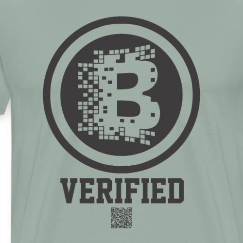 BLOCKCHAIN Verified Altcoin CryptoCurrency BTC - Men's Premium T-Shirt
