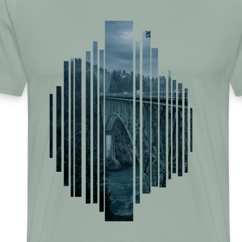 Bridge in the evening - Men's Premium T-Shirt