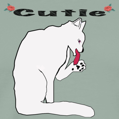 Cute White Cat T Shirt - Men's Premium T-Shirt