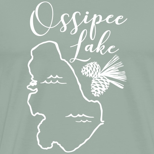 Ossipee Lake with Pine Cone - Men's Premium T-Shirt