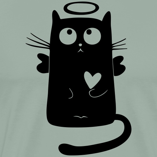 My cat angel - Men's Premium T-Shirt