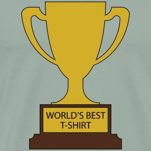 World's Best T-Shirt Trophy - Men's Premium T-Shirt