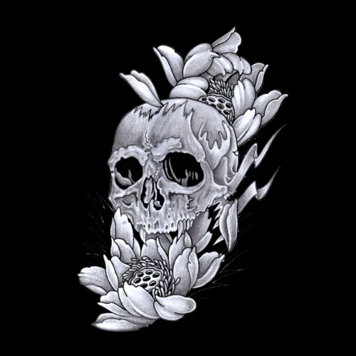 skull and lotus - Men's Premium T-Shirt