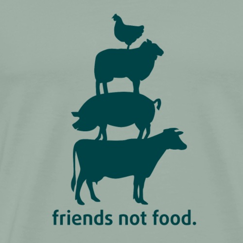 friends not food - Men's Premium T-Shirt