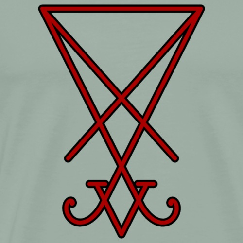 Seal of Lucifer - Red - Men's Premium T-Shirt