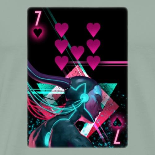 7 of Hearts - Men's Premium T-Shirt
