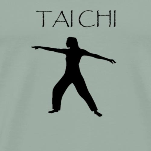 Tai Chi Pose Woman Silhouette - Men's Premium T-Shirt