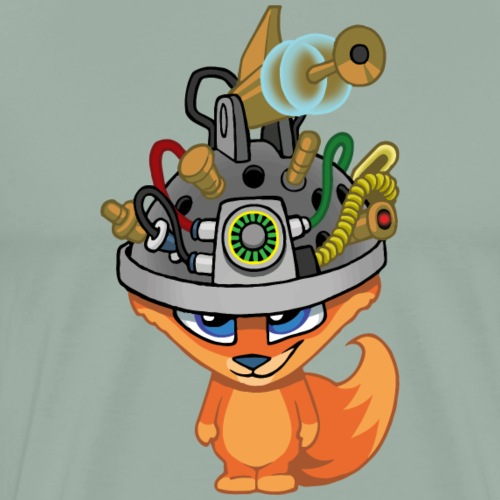 Brainiac Fox - Men's Premium T-Shirt