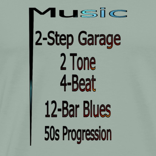 Music from A Z part1 - Men's Premium T-Shirt