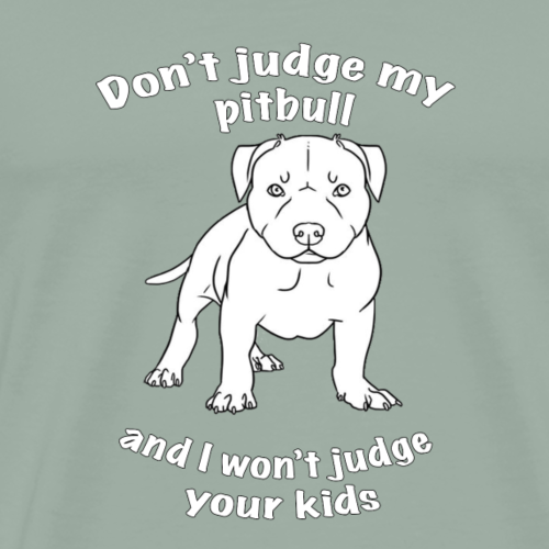Don't judge my pitbull puppy - Men's Premium T-Shirt