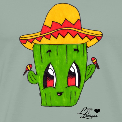 Happy Cactus in Fiesta Mode - Men's Premium T-Shirt