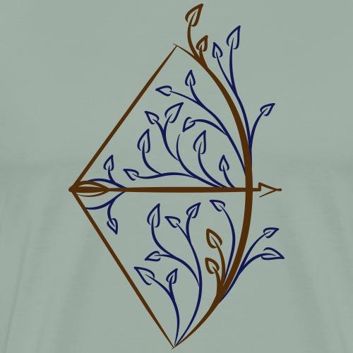 Primitive Bow (Archery by BOWTIQUE) - Men's Premium T-Shirt