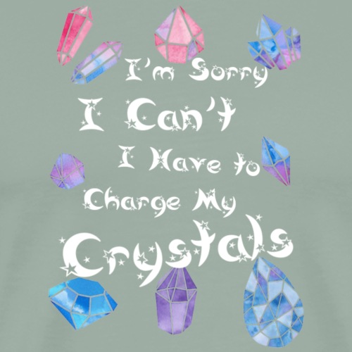 I Have To Charge My Crystals - Men's Premium T-Shirt