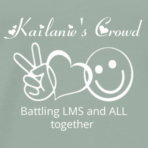 Kailanie's Crowd together white - Men's Premium T-Shirt